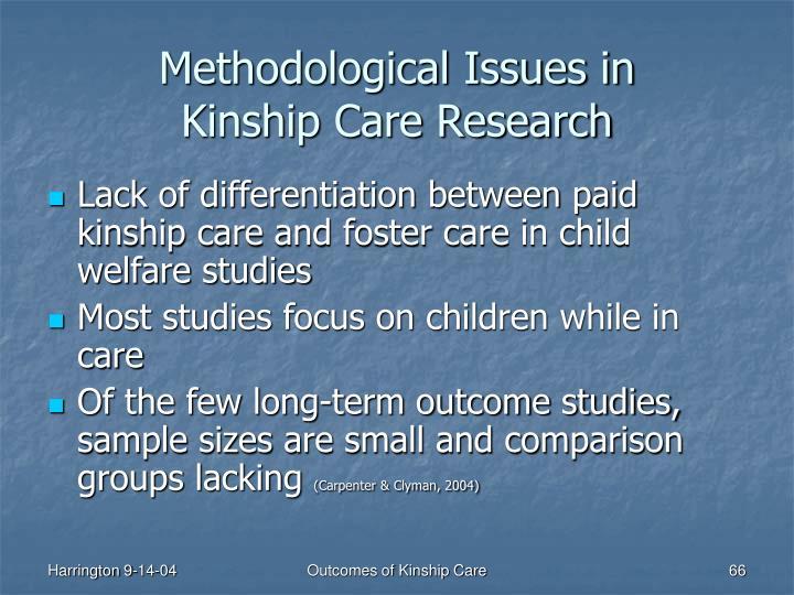 Methodological Issues in