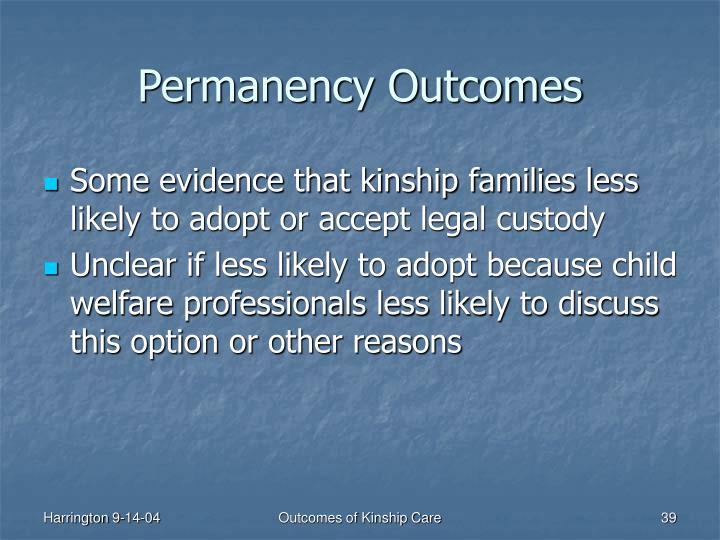 Permanency Outcomes