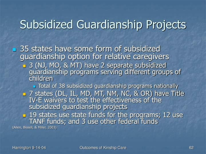 Subsidized Guardianship Projects