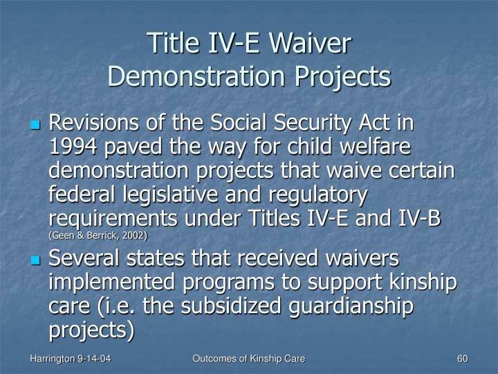 Title IV-E Waiver