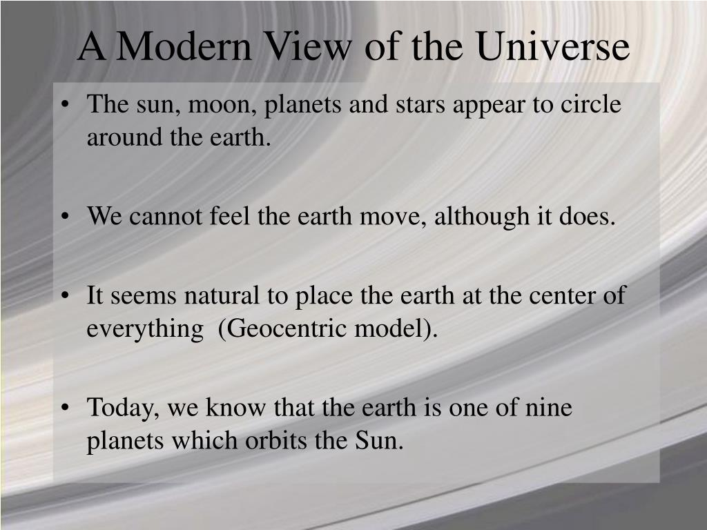 A Modern View of the Universe