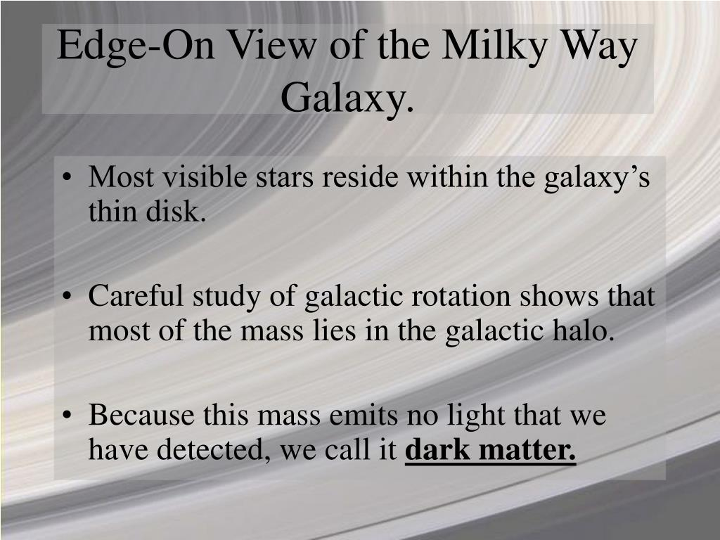 Edge-On View of the Milky Way Galaxy.