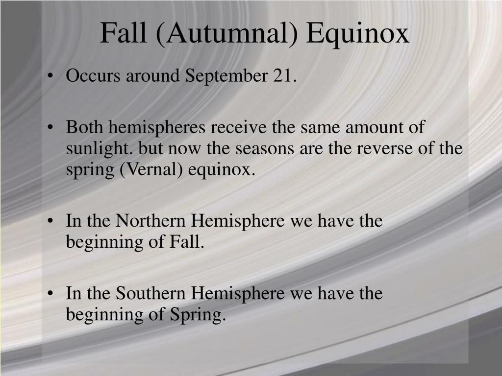 Fall (Autumnal) Equinox