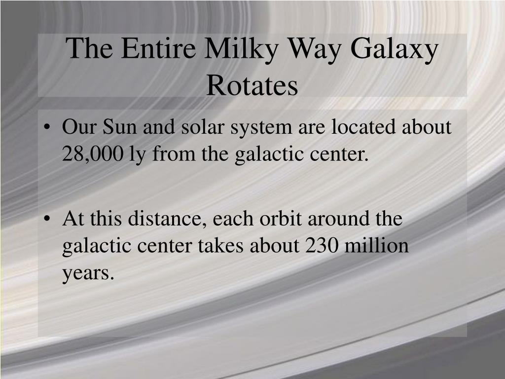 The Entire Milky Way Galaxy Rotates
