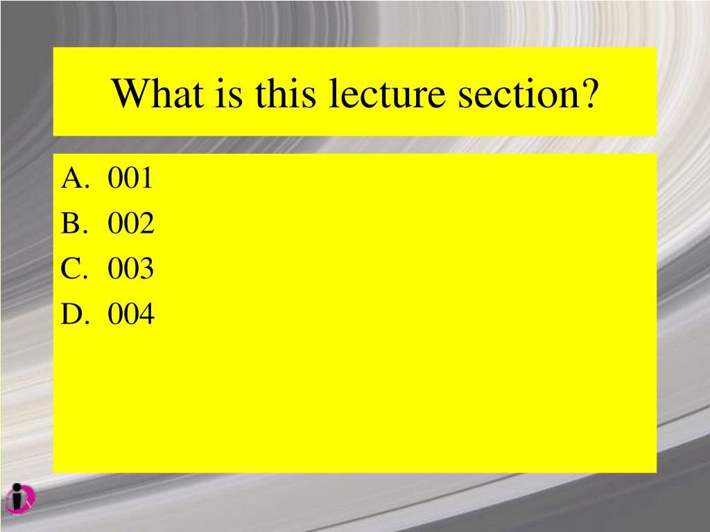 What is this lecture section?