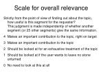 scale for overall relevance