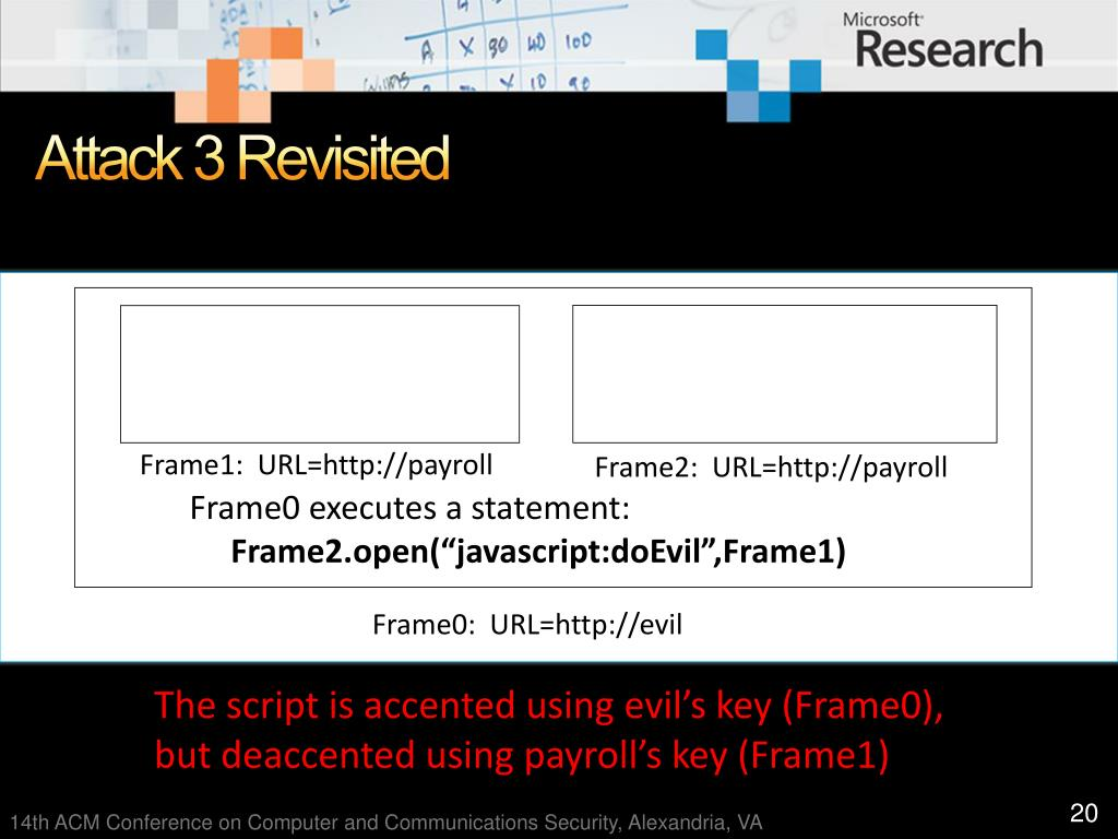 Attack 3 Revisited