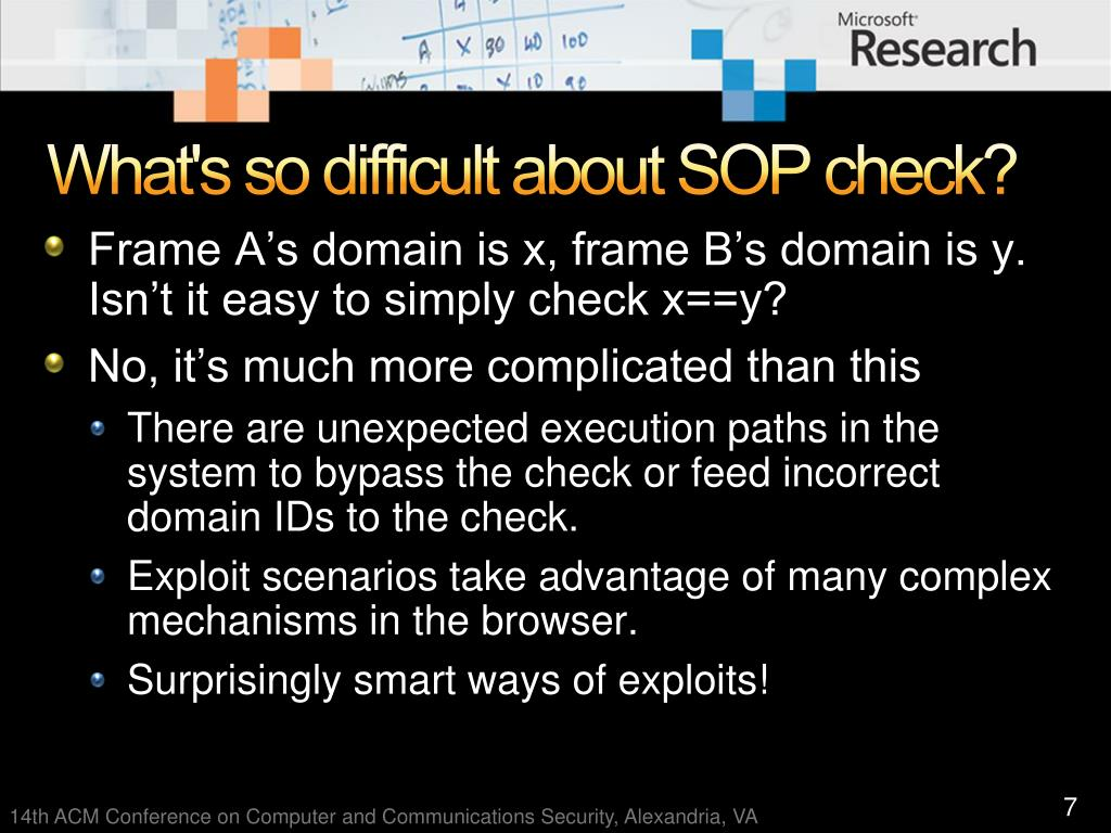 What's so difficult about SOP check?