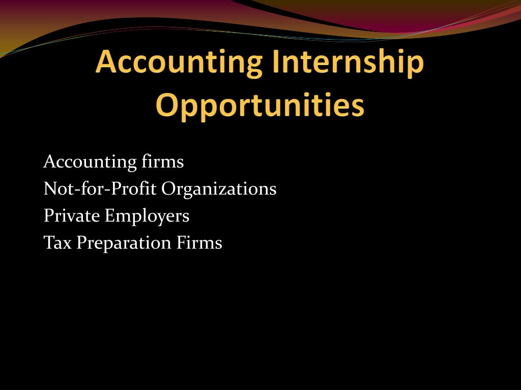 Accounting Internship