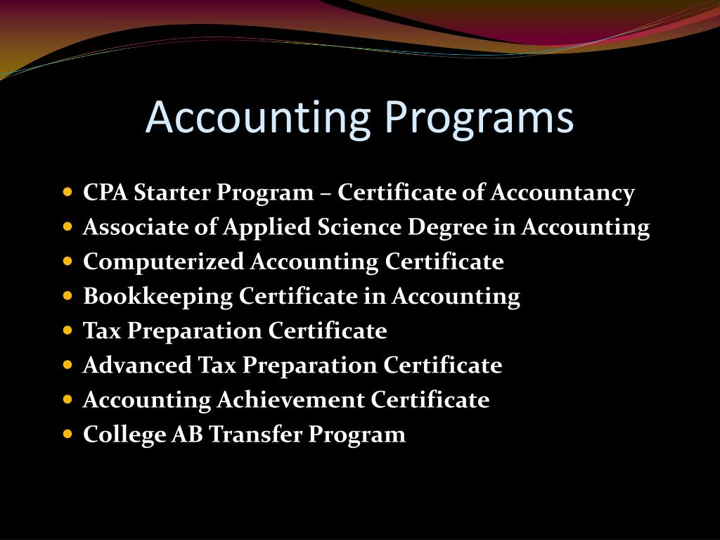 Accounting Programs