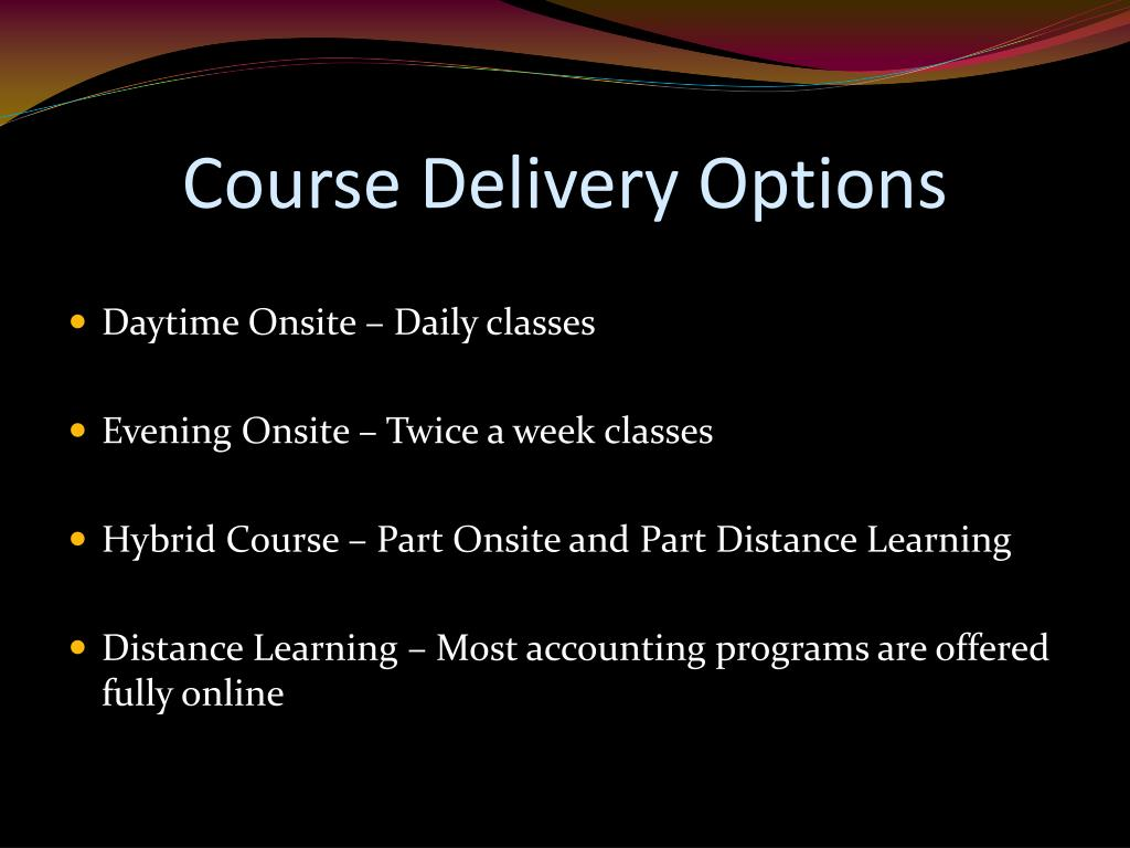 Course Delivery Options