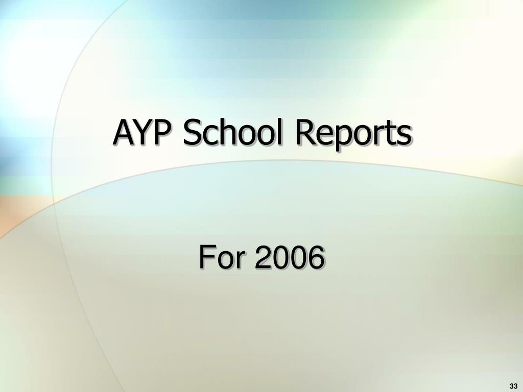 AYP School Reports