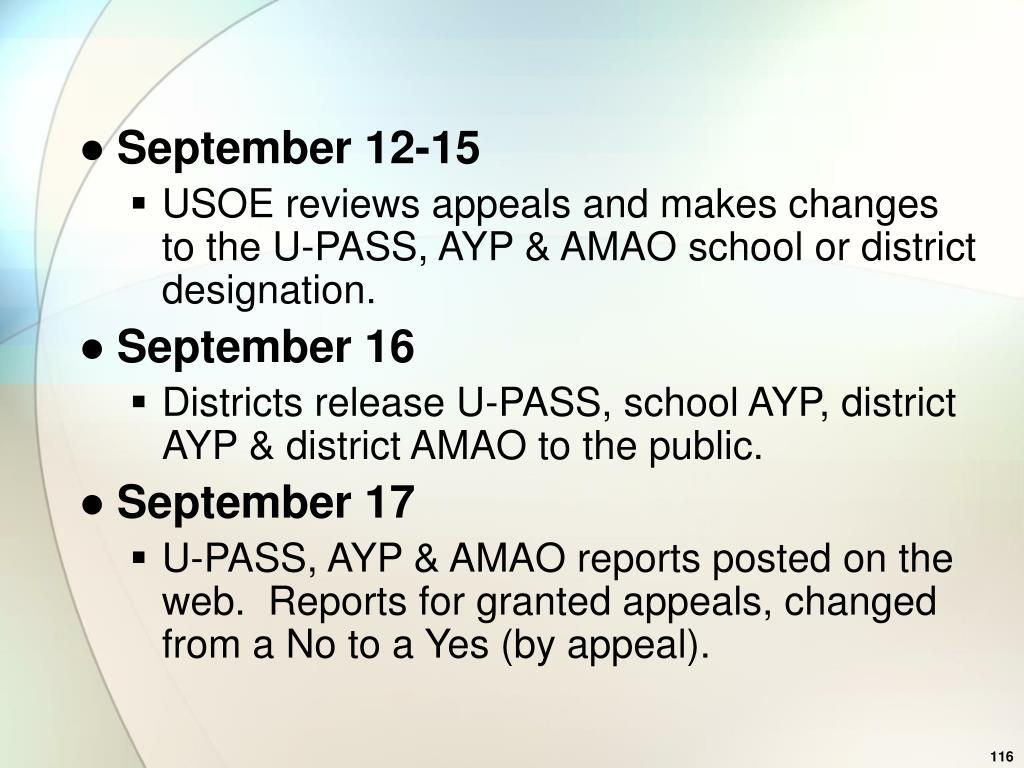 September 12-15