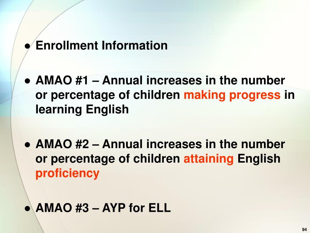 Enrollment Information