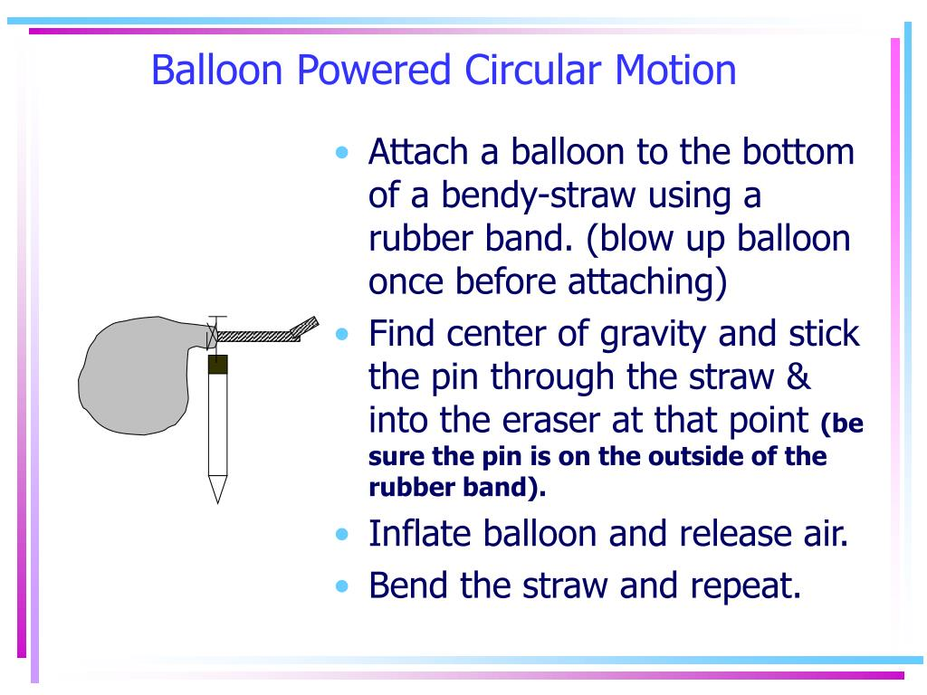 Balloon Powered Circular Motion