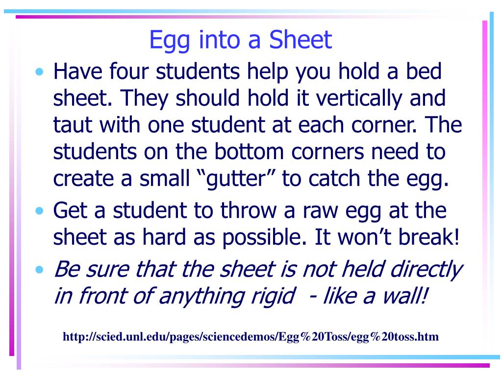 Egg into a Sheet