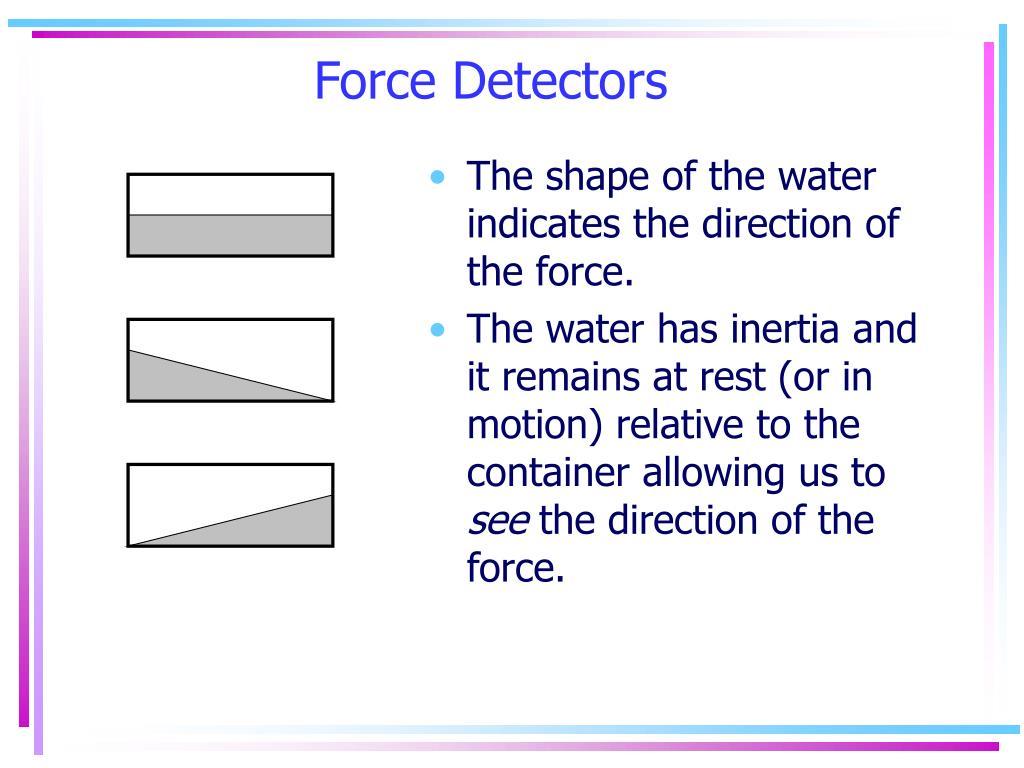 Force Detectors