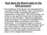 how does the board relate to the eeo process15