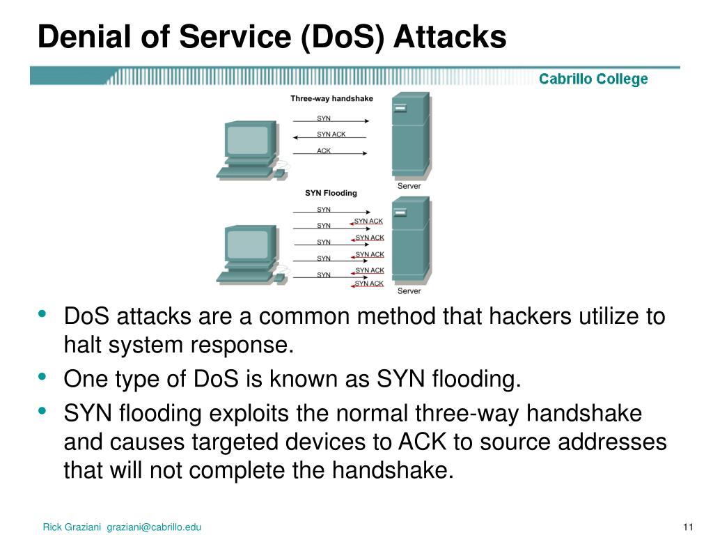 Denial of Service (DoS) Attacks