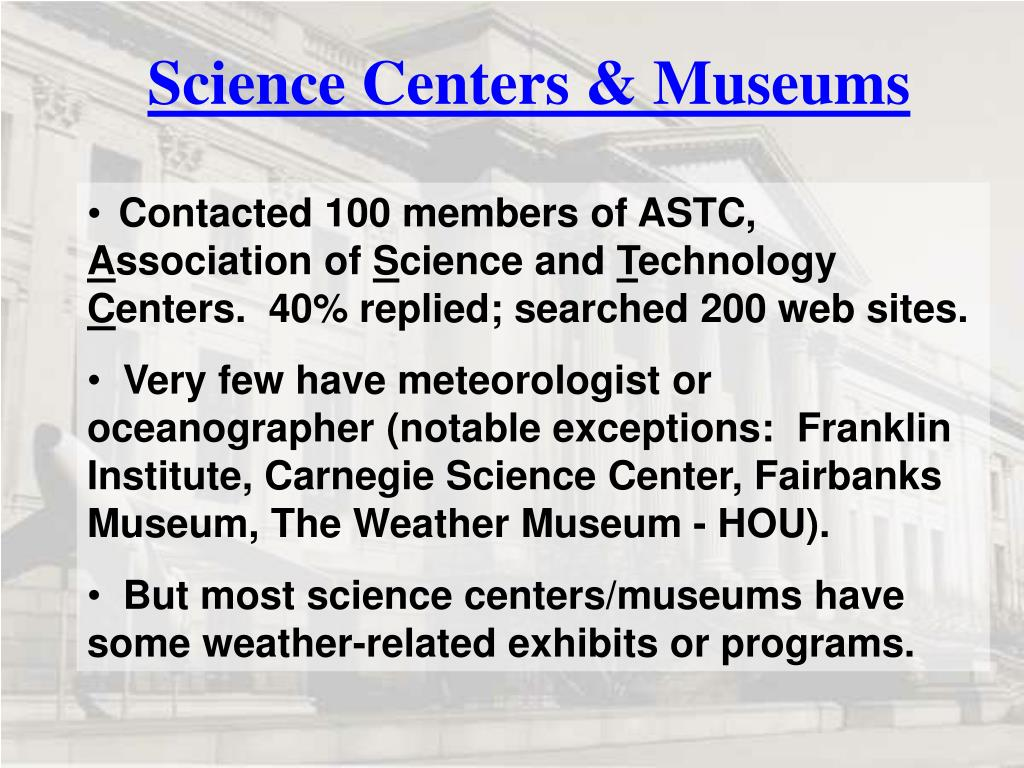 Science Centers & Museums