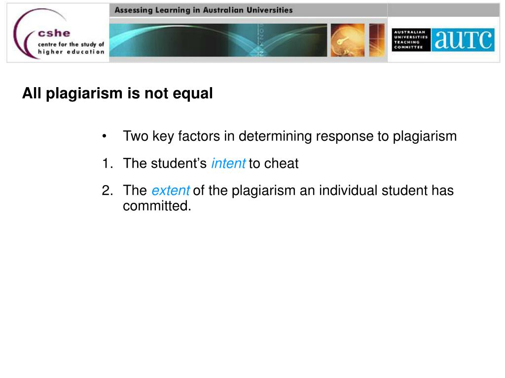 All plagiarism is not equal