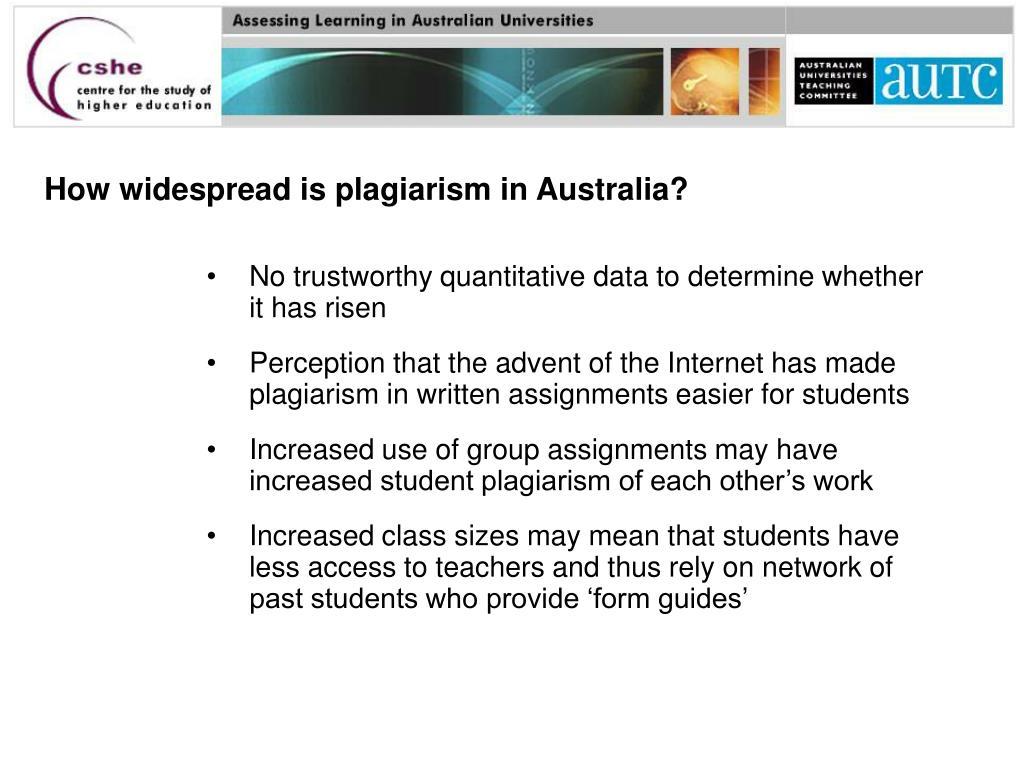 How widespread is plagiarism in Australia?