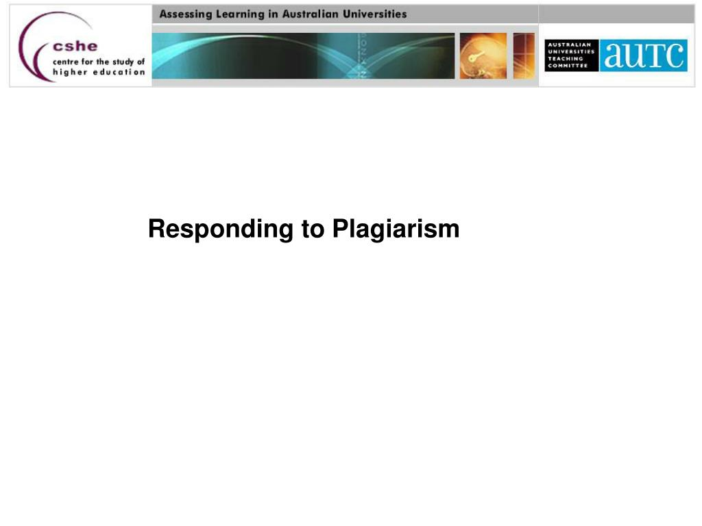 Responding to Plagiarism