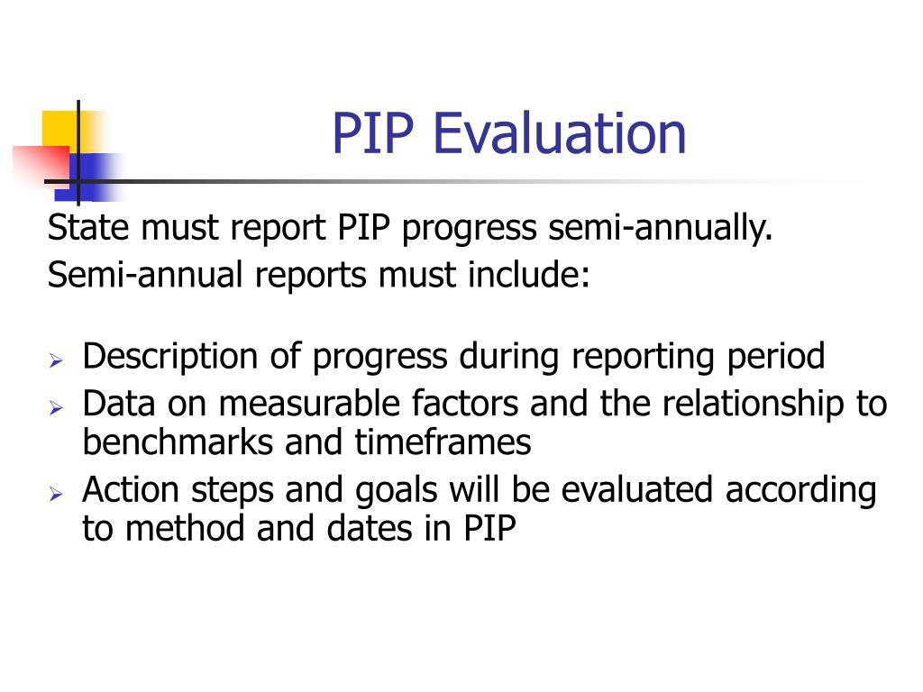 PIP Evaluation