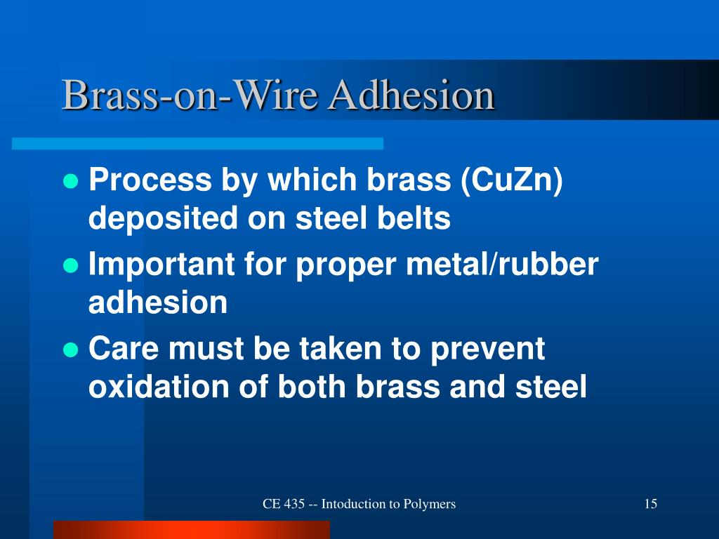 Brass-on-Wire Adhesion