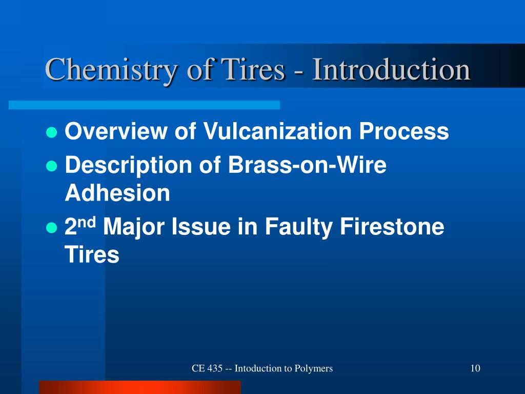 Chemistry of Tires - Introduction