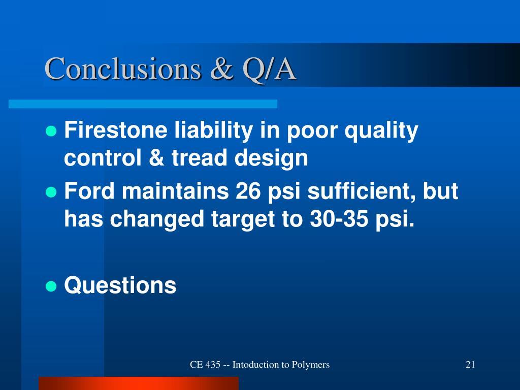 Conclusions & Q/A