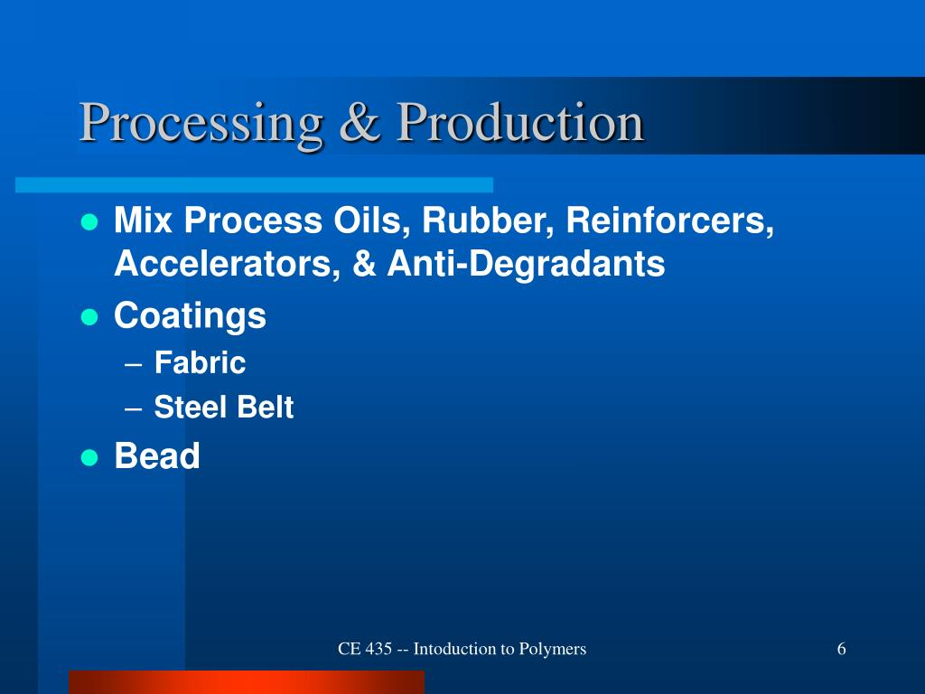 Processing & Production