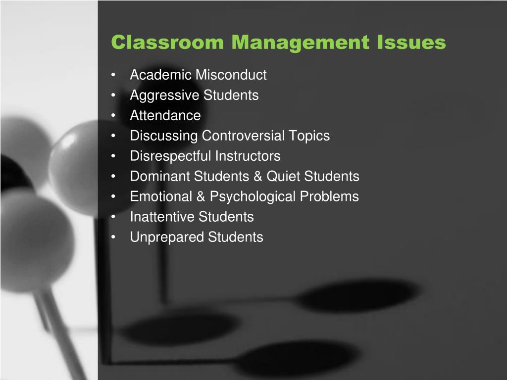Classroom Management Issues