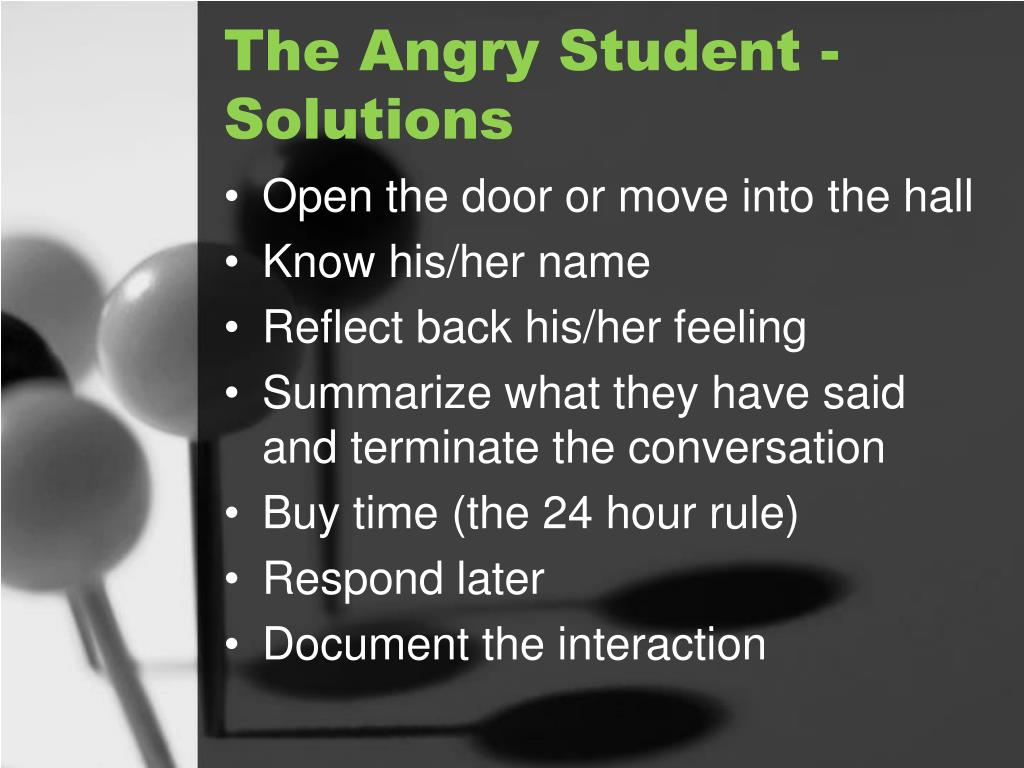 The Angry Student - Solutions