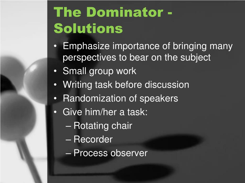 The Dominator - Solutions