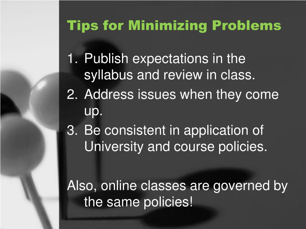 Tips for Minimizing Problems