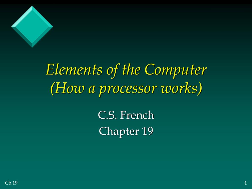 Elements of the Computer