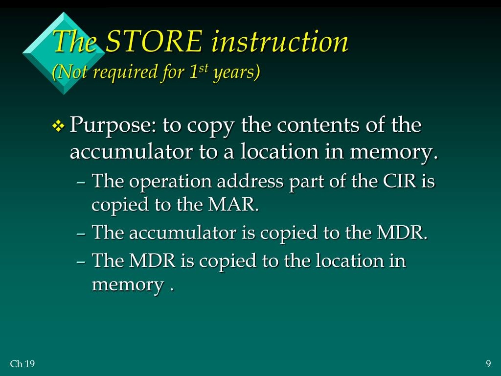 The STORE instruction
