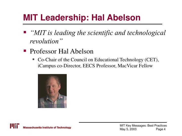 MIT Leadership: Hal Abelson