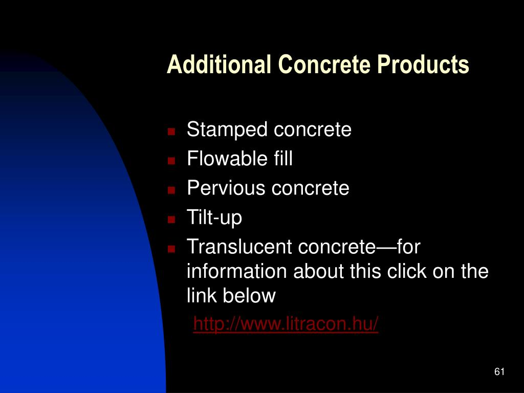 Additional Concrete Products