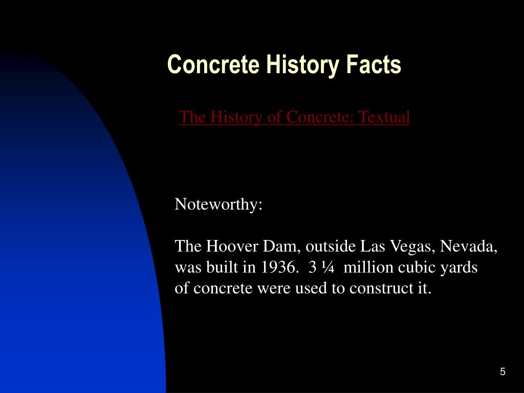 Concrete History Facts