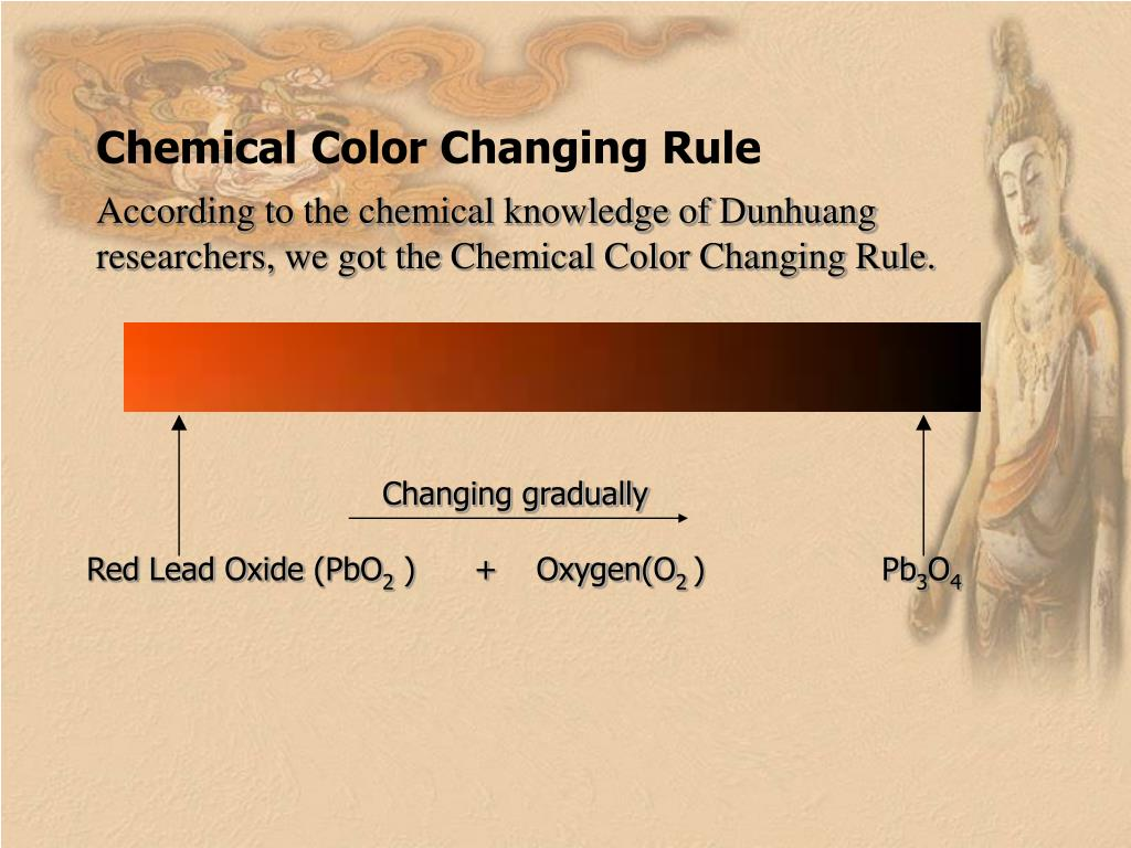 Chemical Color Changing Rule