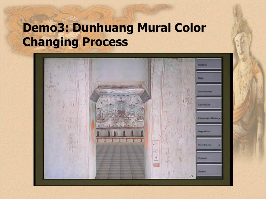 Demo3: Dunhuang Mural Color Changing Process