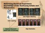 reasoning based on experience knowledge of the dunhuang artists and researchers22