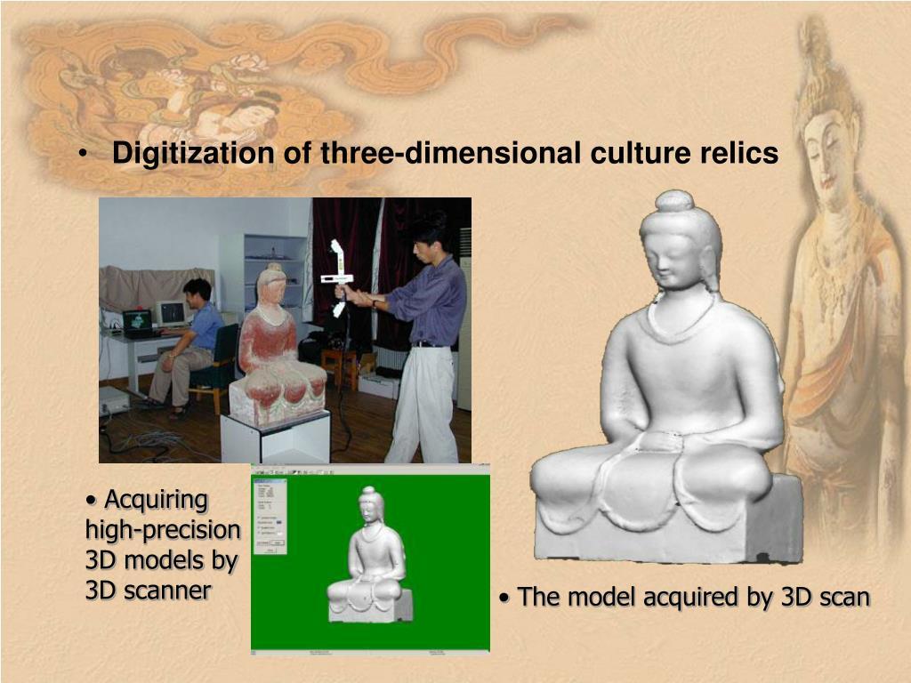 Digitization of three-dimensional culture relics