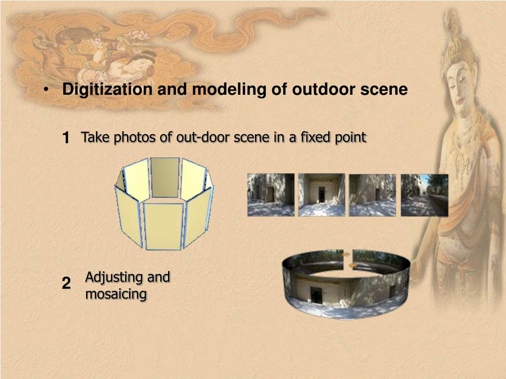 Digitization and modeling of outdoor scene