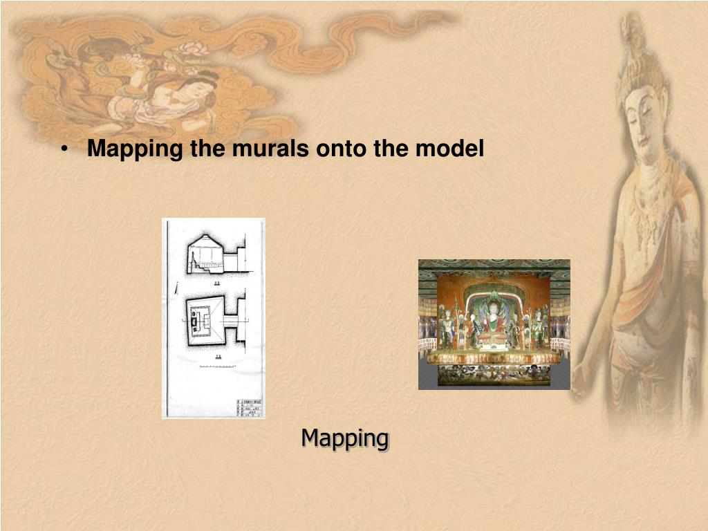 Mapping the murals onto the model