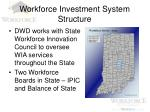 workforce investment system structure