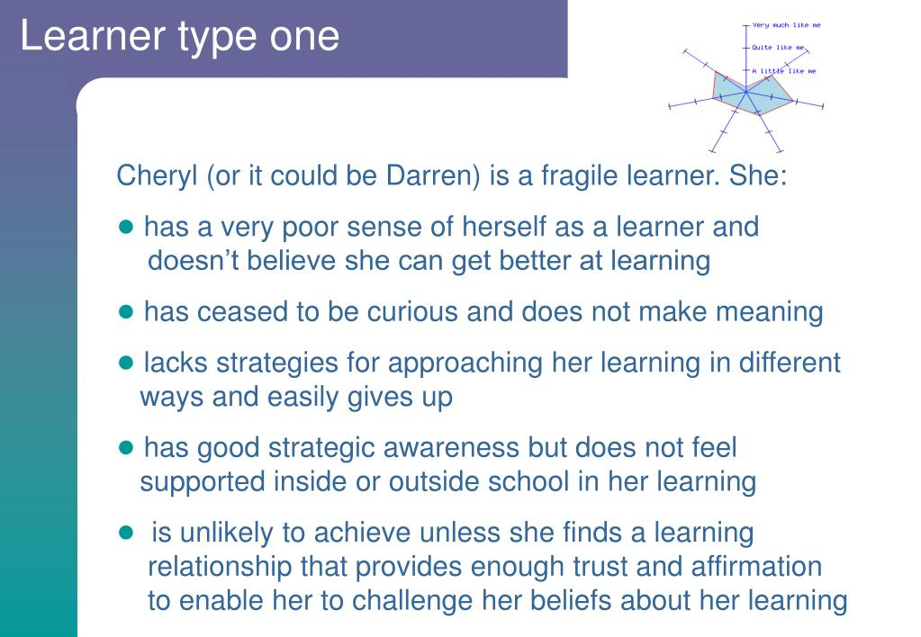 Learner type one