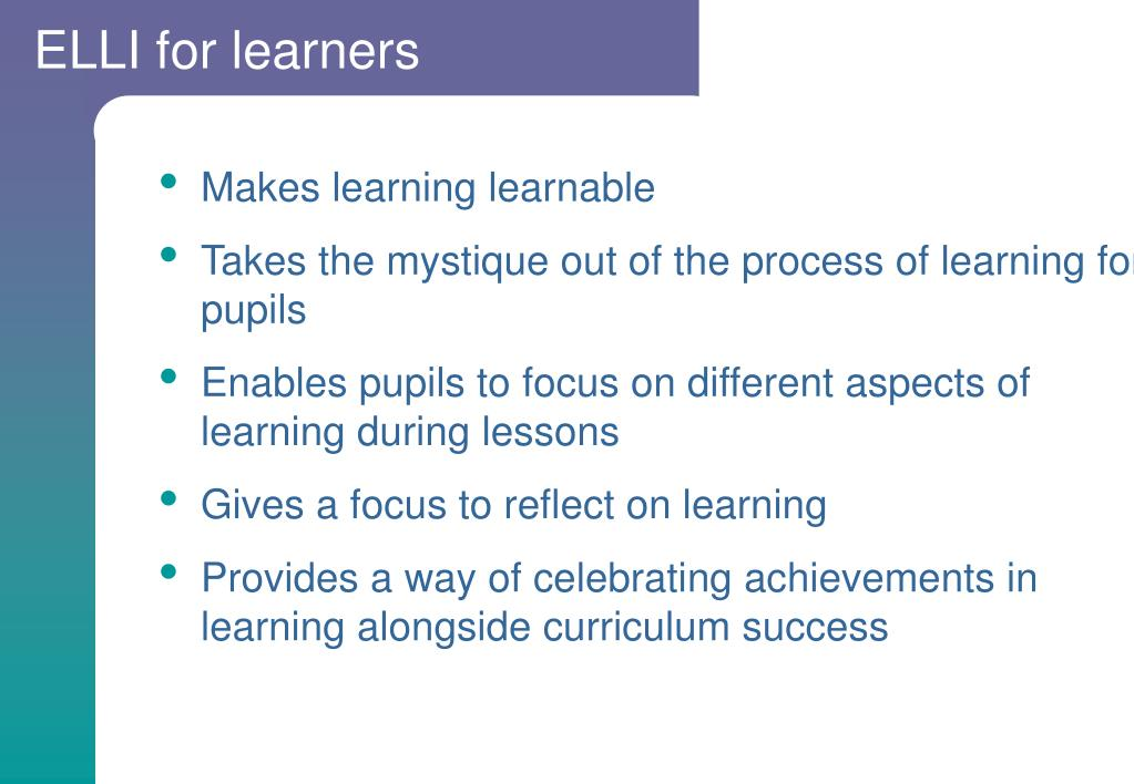 ELLI for learners